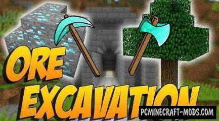 Ore Excavation Mod For Minecraft 1.12.2, 1.11.2, 1.10.2, 1.7.10