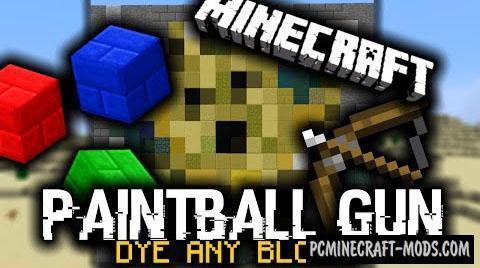Paintball Guns Command Block For Minecraft 1.8.9