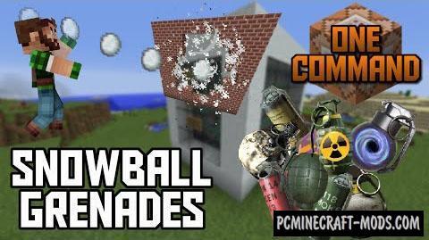 Snowball Grenades Command Block For Minecraft 1.9