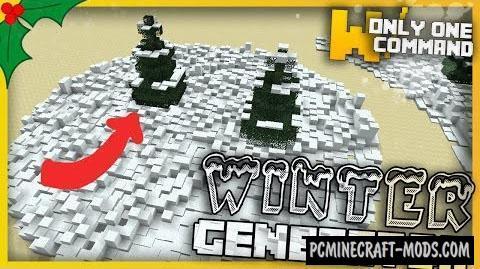 Winter Generator Command Block For Minecraft 1.11.2