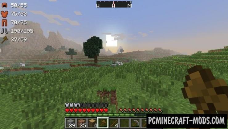 ArmorStatusHUD Mod For Minecraft 1.8, 1.7.10, 1.6.4