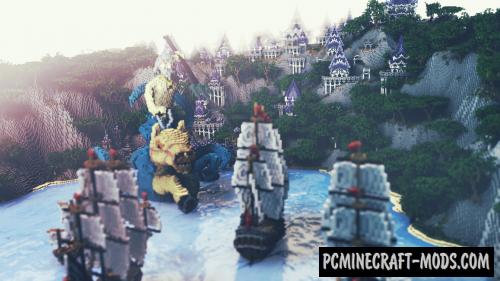 Azul Islands - 3D Art, Town Map For Minecraft