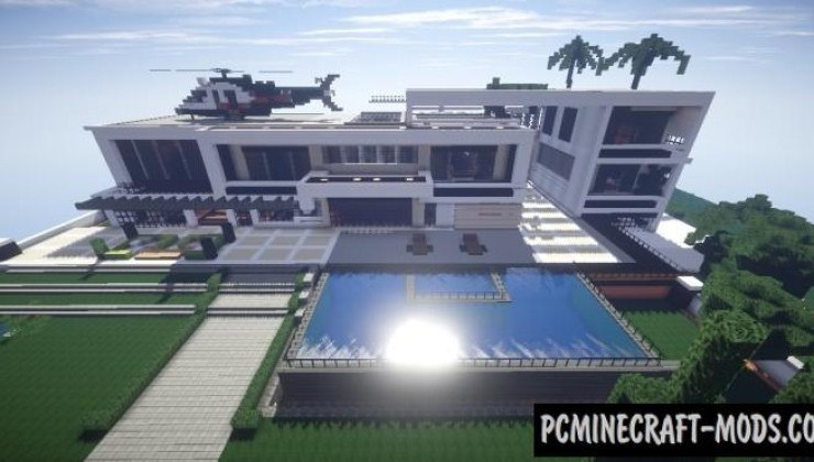 Huge Modern House Map For Minecraft 1 15, 1 14 4 | PC Java Mods