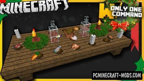 Christmas Dinner Items Command Block For Minecraft 1.9