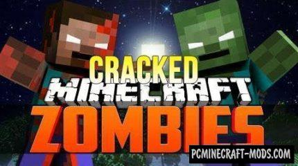 CrackedZombie Mod For Minecraft 1.12.2, 1.11.2, 1.10.2, 1.7.10
