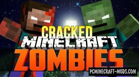 CrackedZombie - Hardcore Mod For Minecraft 1.15.1, 1.14.4