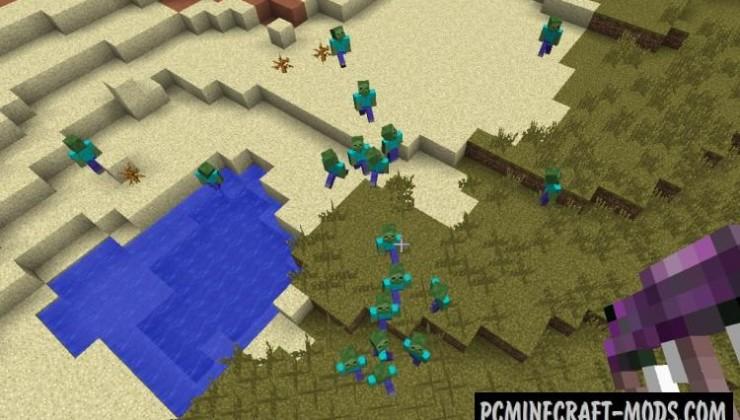 CrackedZombie - Hardcore Mod For Minecraft 1.12.2, 1.7.10