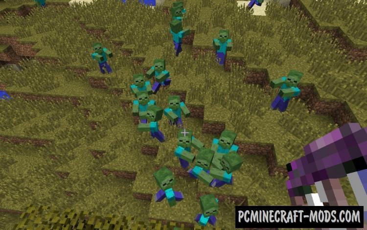 CrackedZombie Mod For Minecraft 1.12.2, 1.11.2, 1.10.2, 1.7.10