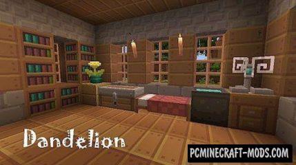 Dandelion Resource Pack For Minecraft 1.12.2, 1.11.2, 1.10.2, 1.7.10
