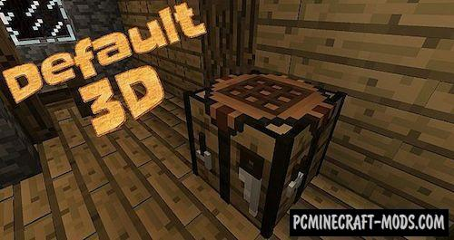 Default 3D 16x16 Resource Pack Minecraft 1.16.3, 1.16.2, 1.15