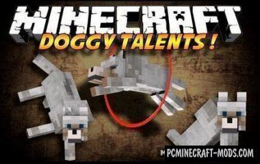 Doggy Talents Mod For Minecraft 1.13.2, 1.12.2, 1.11.2, 1.10.2