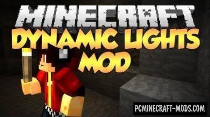 Dynamic Lights Mod For Minecraft 1.12.2, 1.11.2, 1.10.2, 1.7.10