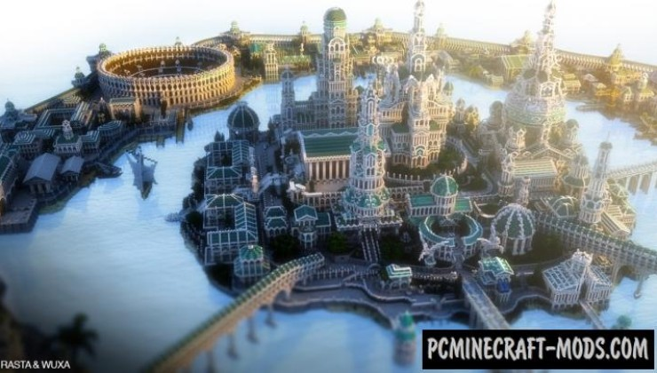 Atlantide - Castle, City Map For Minecraft