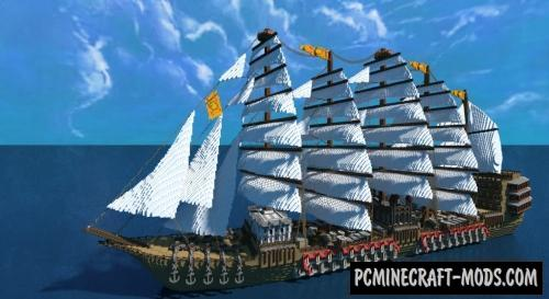 Giant Ship - 3D Art Map For Minecraft