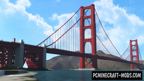 Golden Gate Bridge - Building Map For Minecraft