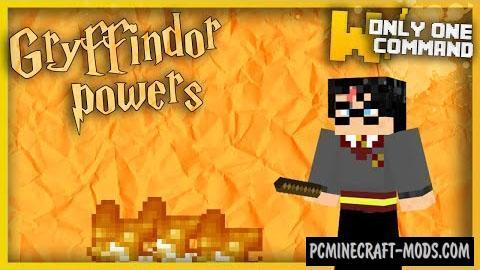 Gryffindor's Magic Powers Command Block MC 1.10.2, 1.9.4