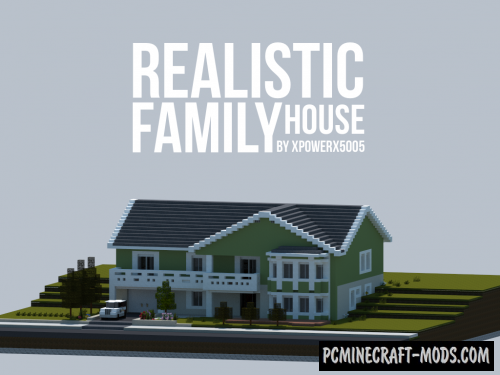 Realistic Family House Map For Minecraft