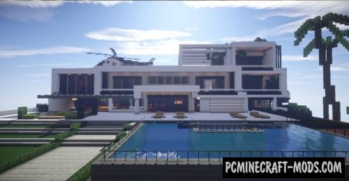 Huge modern house map for minecraft pc java for Huge modern mansion