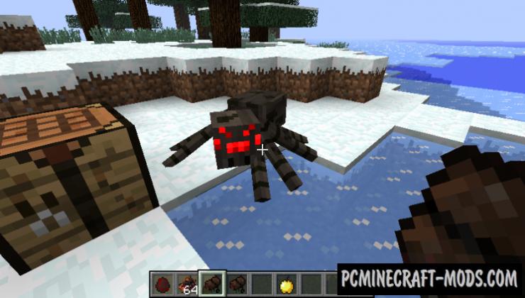 Rideable Spiders - Tweak Mod For Minecraft 1.7.10