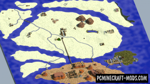 Outlaws - Town, Terrain Map For Minecraft