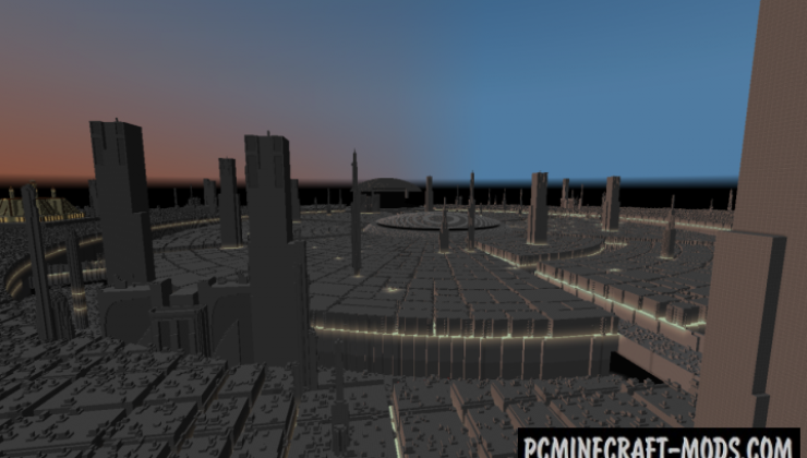 Coruscant Planet Map For Minecraft