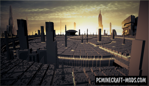Coruscant Planet Map For Minecraft 1 14 1 13 2 Pc Java Mods Addons