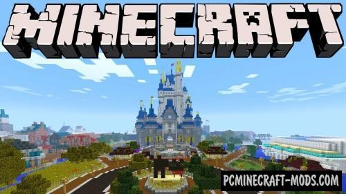 Walt Disney World Magic Kingdom Map For Minecraft 1.14, 1.13.2