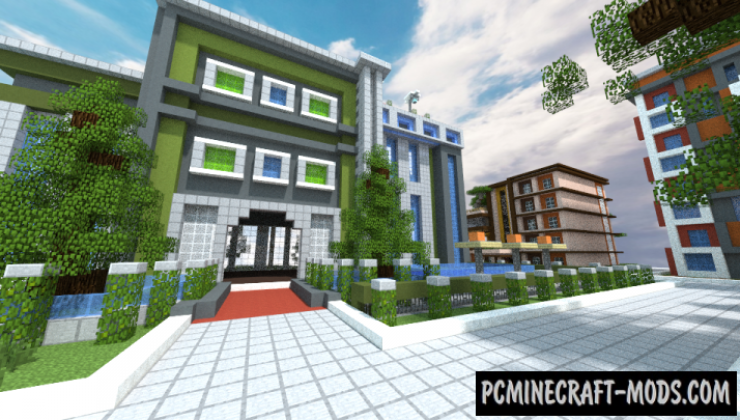 Modern Simple Small City Map For Minecraft