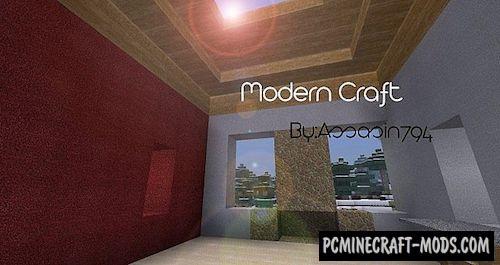 Modern Craft HD Resource Pack For Minecraft 1.7.10, 1.7.2, 1.6.4
