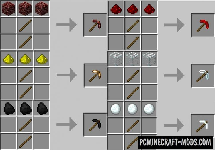 More Pickaxes - Tools Mod For Minecraft 1.8.9, 1.7.10