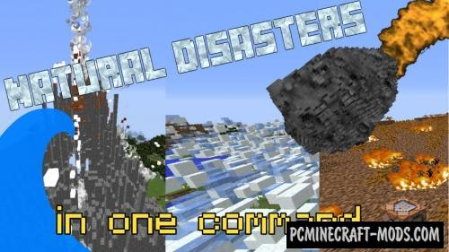 Natural disasters Command Block For Minecraft 1.9