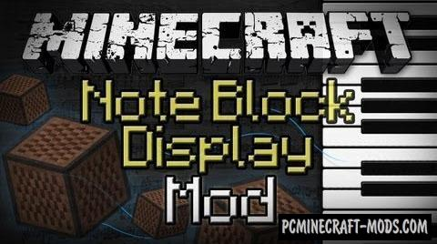 Note Block Display Mod For Minecraft 1.8, 1.7.10, 1.6.4