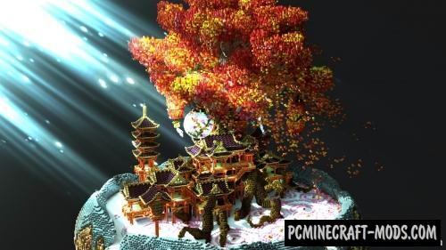 Autumn Wind of the Red Leaf Maple Map For Minecraft
