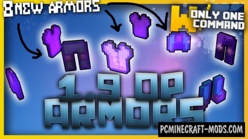 Overpowered armors Command Block For Minecraft 1.9.4, 1.9