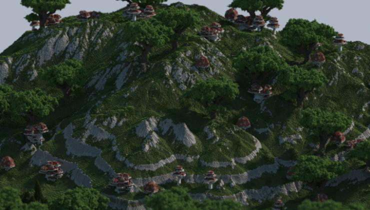 Mushroom Valley - Terrain Map For Minecraft