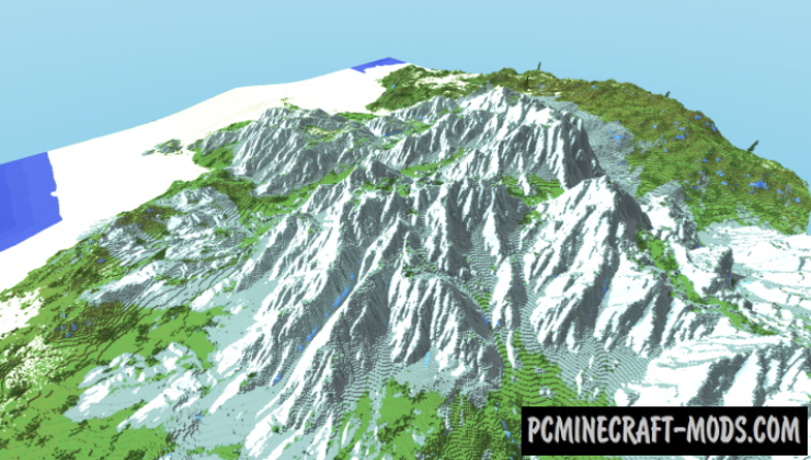 4000x4000 Custom Terrain Map For Minecraft