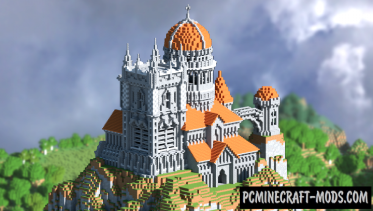 Hillside Castle Map For Minecraft