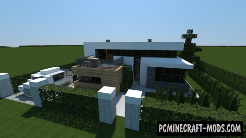 Small Modern House Map For Minecraft