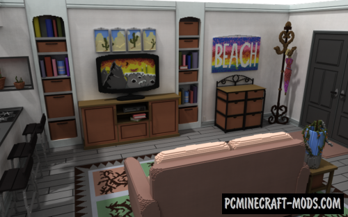 Living Room Map For Minecraft 1 15 1 14 4 Pc Java Mods