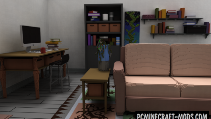 Living Room - House Map For Minecraft