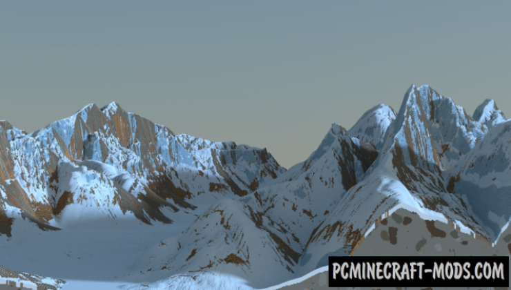 Snowy Mountain ridges Map For Minecraft 1 15, 1 14 4 | PC