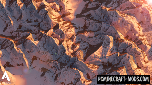 Snowy Mountain Ridges - Surv, Terrain Map MC