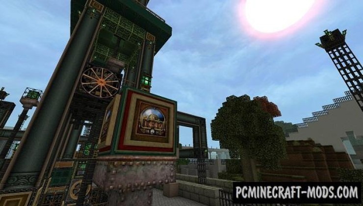 Glimmar's Steampunk Resource Pack For Minecraft 1.7.10, 1.7.2, 1.6.4