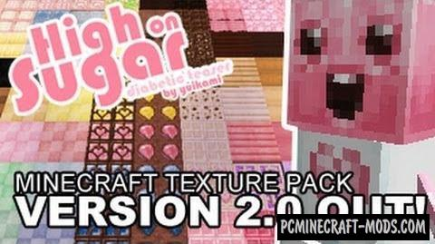 High on Sugar Resource Pack For Minecraft 1.8.9, 1.8