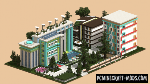 Modern Simple Small City Map For Minecraft 1 14 4, 1 14 3 | PC Java Mods