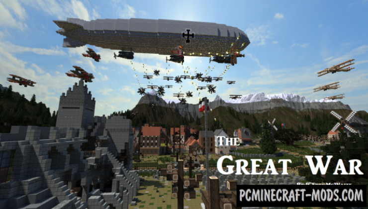 The Great War - City, 3D Art Map For Minecraft