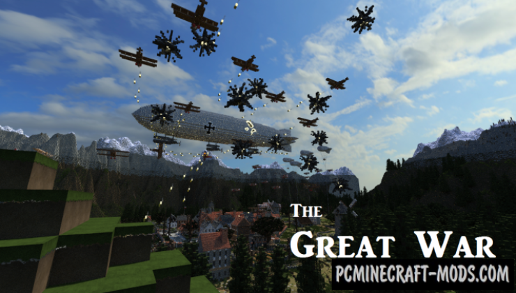 The Great War Map For Minecraft 1.15, 1.14.4 | PC Java Mods