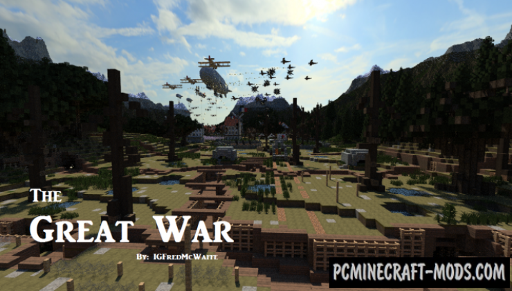 The Great War Map For Minecraft 1.13.1, 1.12.2 | PC Java Mods & Addons