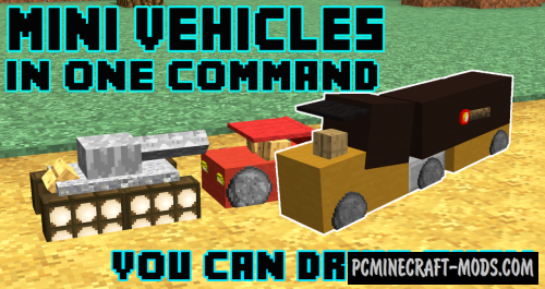 Mini Vehicles Command Block For Minecraft 1.10.2