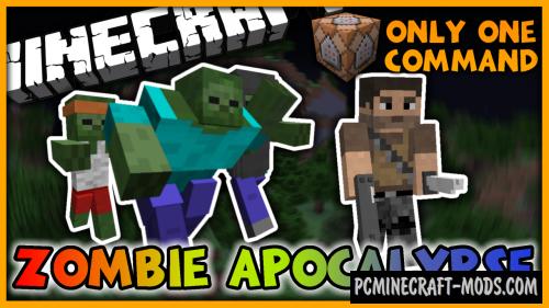 Zombie Apocalypse Command Block For Minecraft 1.10.2, 1.10